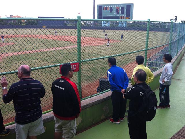 訪視桃園青埔棒球運動公園。此場地為2015年第8屆亞太聽障運動會棒球競賽暫定場地。