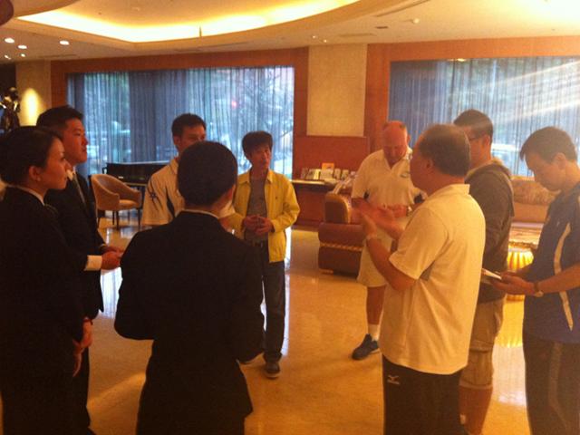 訪視五星級之桃園市尊爵大飯店。此飯店為2015年亞太聽障運動會大會指定之官方飯店之一。