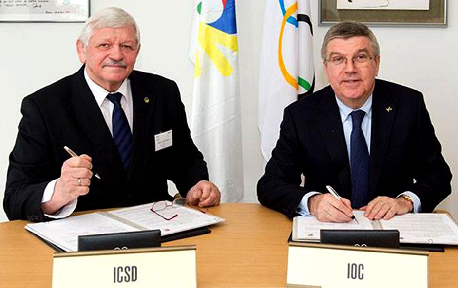 國際奧林匹克委員會(IOC)與國際聽障運動總會(ICSD)正式簽署官方備忘錄