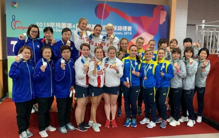 中華隊女子團體賽進帳銀牌。圖/中華聽障者體育運動協會提供